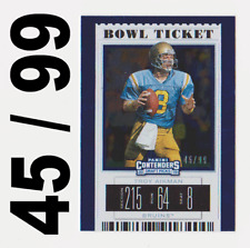 2019 TROY AIKMAN Panini  Contenders Draft Picks Bowl Ticket Parallel SP Card #99