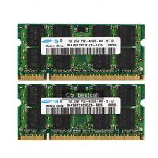 New Samsung 2GB 2X1GB PC4200 DDR2-533 PC2-4200s 200pin SODIMM Laptop RAM Memory