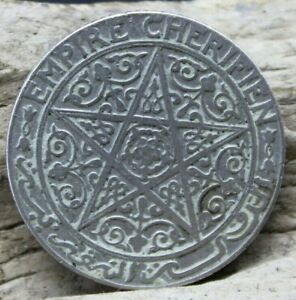 ANTIQUE Morocco 1 Franc Empire Cherifien Circulated (E3T)