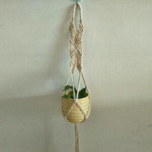 Macrame Plant Vine Flower Pot Hanging Planter Basket Vase Holder Hanger Rope UK