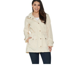 NEW Joan Rivers Water Resistant Anorak with Hood Size M