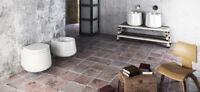 Lavandino Lavabo da Appoggio Design Moderno Catino in Ceramica Bianca 42x42xH35