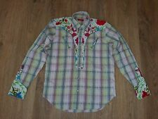 Christian Lacroix Homme western floral pearl button rare mens shirt size 39/15,5