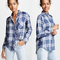 NWT Authentic Rails Hunter Plaid Shirt Ocean Blush Cloud Wash