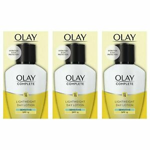 3 Olay 3in1 Lightweight Day Fluid Sensitive SPF15 Essentials Complete Care 100ml