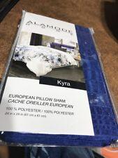 "Alamode Home Kyra 24"" x 24"" Euro Pillow Sham, Blue"