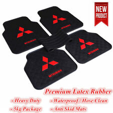 Red Universal Car Floor Mats for Mitsubishi Vehicles Latex Rubber Lancer ASX