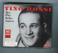 3 CDs (NEUF) TINO ROSSI MES PLUS BELLES ANNEES (65 TITRES)