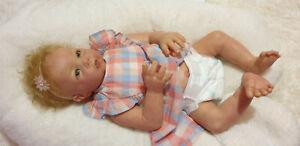 """Rare Original Reborn Baby Girl """" Luca """" by Elly Knoops +Sheila Michael 3/4 torso"""