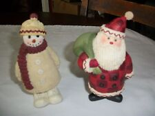 Dept 56 Woodland Country Christmas Santa & Snowman 2 pc set