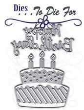 Dies ... to die for metal cutting craft die Happy Birthday cake & word
