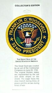 FRANKLIN ROOSEVELT FDR PRESIDENT UNITED STATES OF AMERICA SEAL PATCH pinback pin