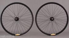 Velocity Deep V ALL BLACK Fixed Gear Track Bike Singlespeed Wheelset Wheels 36 H