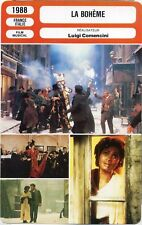 Movie Card Fiche Cinéma. La bohème (France/Italie) Luigi Comencini 1988 (R2)