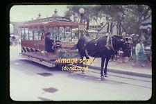 1957 Disneyland, Horse Trolley, Original Slide c19a