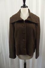 Ralph Lauren Womens Blazer Size 16 Dress Suit Jacket Coat Wool Brown Tweed L/S