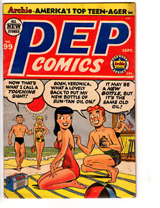 Pep Comics # 99 (VG+ 4.5) 1953, Archie, Katy Keene, Wilbur, GGA cover