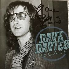 Dave Davies (The Kinks) Decade CD + Autographed / Signed  Booklet