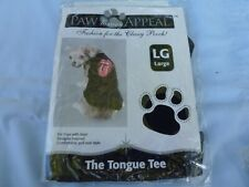 "DOG/Pet TONGUE TEE SHIRT by PETS UNITED size Large ""Classy Pooch Fashion"" NIP"