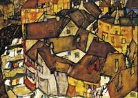 Egon Schiele - A4 size Abstract Deco Canvas Art Print Poster Unframed