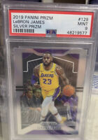 2019/20 Panini Prizm Lebron James Silver Lakers Star PSA 9 Mint