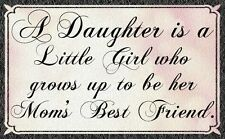 (Mom's Best Friend) WALL DECOR, GIFT ,RUSTIC,,HARD WOOD, SIGN, PLAQUE