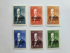Finland, Karelia 1941 Finnish Occupation/President Ryti, 6 stamps, hinged