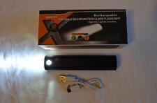 Aurora LED Flashlight Multifunction Portable Rechargeable Phone Charger BLACK