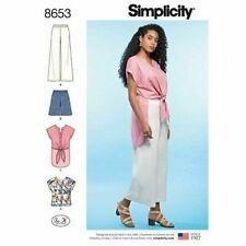 SIMPLICITY Sewing Patterns~8653 Misses Ladies Pants+Shorts+Tops 10-12-14-16-18