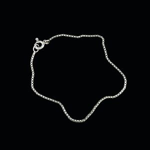 Georg Jensen. 14k White Gold Chain Bracelet - 15 cm. / 5,9''
