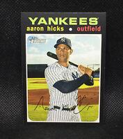 SP! 🚨2020 Topps Heritage Aaron Hicks #489 High Number