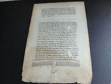 1152 and 1212 Historical Documents-Medieval Latin, England-1800's Reproduction.