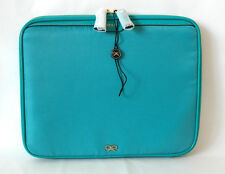 New Authentic Anya Hindmarch Nylon Patent stand Ipad Case Pouch Document cover
