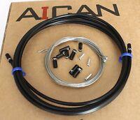 Aican PREMIUM bike bicycle SHIFT DERAILLEUR cable housing set kit Jagwire, Black