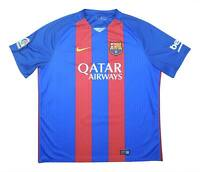Barcelona 2016-17 Authentic Home Shirt (Excellent) XXL Soccer Jersey