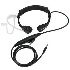 US 1 Pin 3.5mm PTT Throat Mic Tube Headset With Slow rebound Earbud for phone