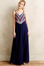 Mara Hoffman Prism Point Maxi Dress Embellished Gown Anthropologie XS 0 2