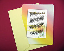 """Good Morning God"" - Inspirational Poem - Keepsake Enclosed Verse Card sku# 549"
