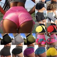 Womens High Waist Yoga Shorts Sports Gym Fitness Running Butt Lift Booty Pants A