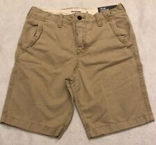 NWT ABERCROMBIE & FITCH Classic Fit Shorts  Button Fly Distressed Khaki  31 dse
