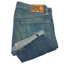 RRL Ralph Lauren Japanese Selvedge Jeans Size 34 x 34 USA Made Low Straight