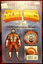 Secret Wars #5 Marvel Comics (2015) Falcon Action Figure Variant (NM)