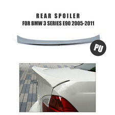 Grey PU Rear Trunk Spoiler Wing Lip Fit for BMW 3 Series E90 M3 Sedan 2005-2011