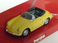 Herpa Porsche 356 B Cabrio, gelb - 022286