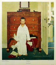 """NORMAN ROCKWELL """"THE DISCOVERY""""   LIMITED COLLOTYPE   RETAIL 300.00   GALLART"""