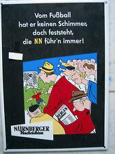 Nürnberger Nachrichten  Emaille Schild 42 cm x 30 cm gebraucht