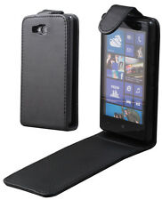 Flip PU Leather Case Pouch BLACK For NOKIA LUMIA 820