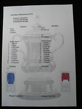 1969-70 FA Cup 4th Round Chelsea v Burnley Matchsheet