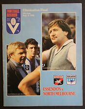 1982 Elimination final Essendon v North Melbourne Football Record