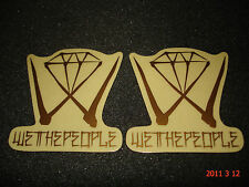 2 AUTHENTIC WETHEPEOPLE BMX BIKES GOLD FRAME STICKERS / DECALS #37 AUFKLEBER